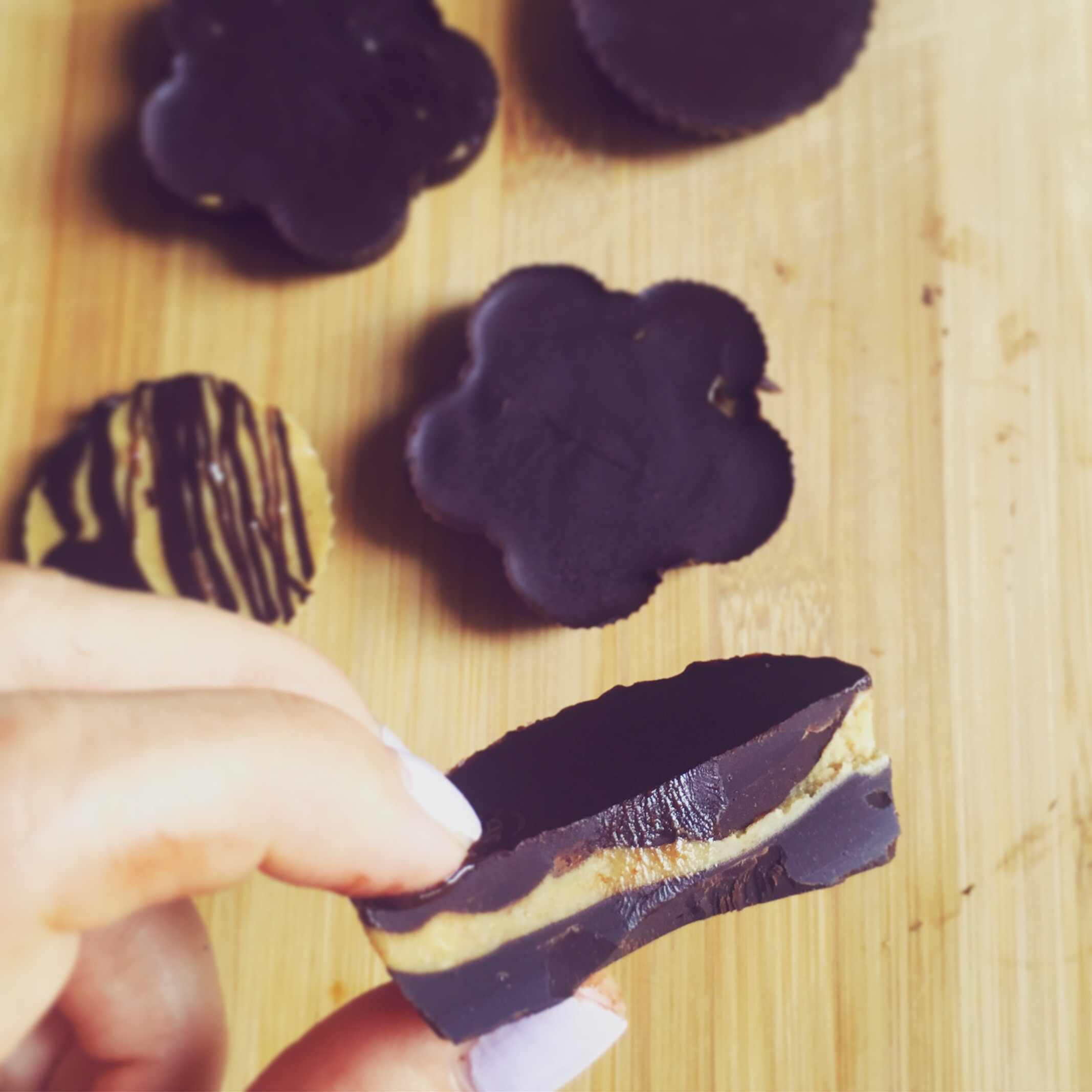 zdrowe reese's czekoladki z masłem orzechowym