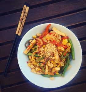 pikantny makaron ryżowy