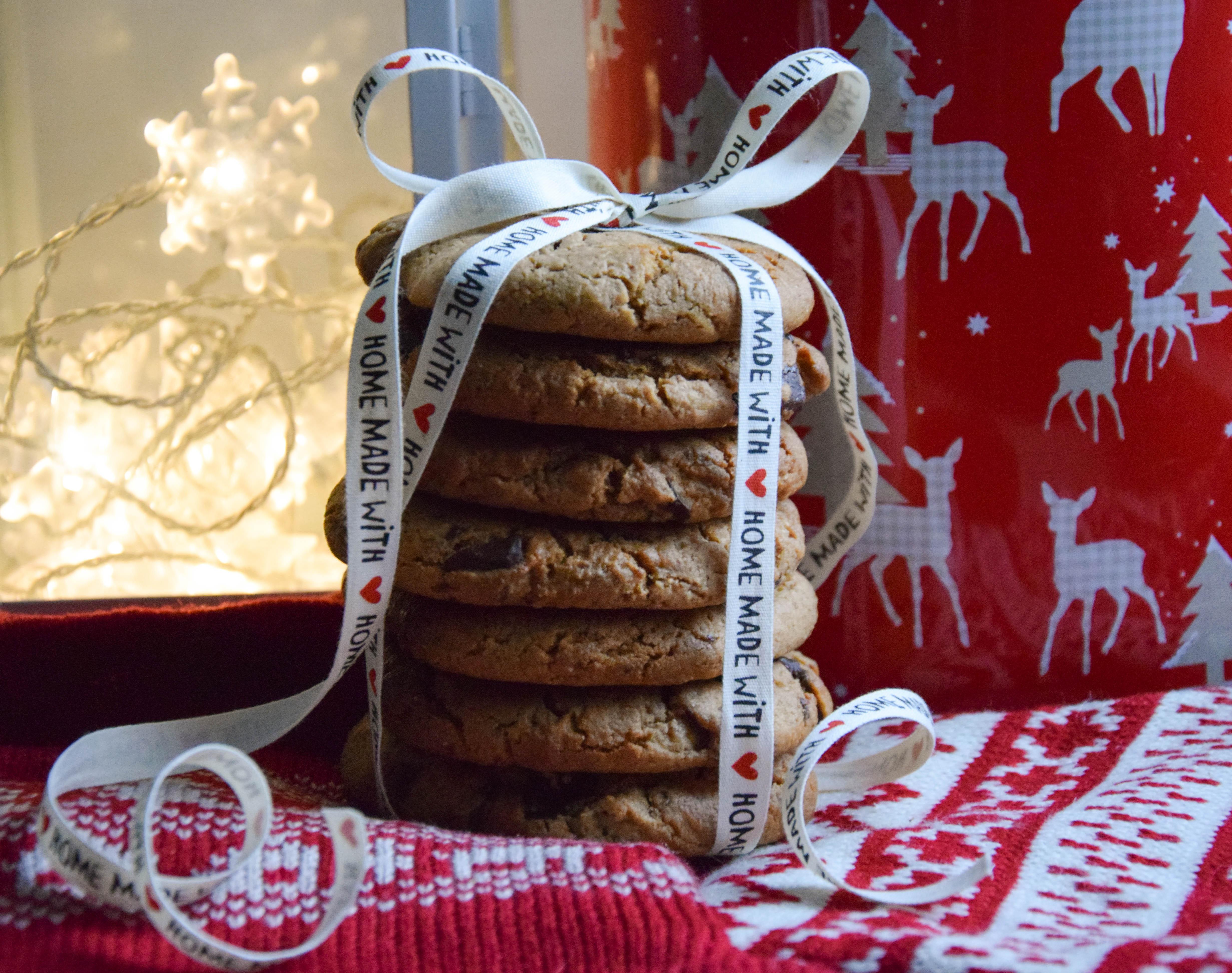 zdrowe ciasteczka z kawałkami czekolady