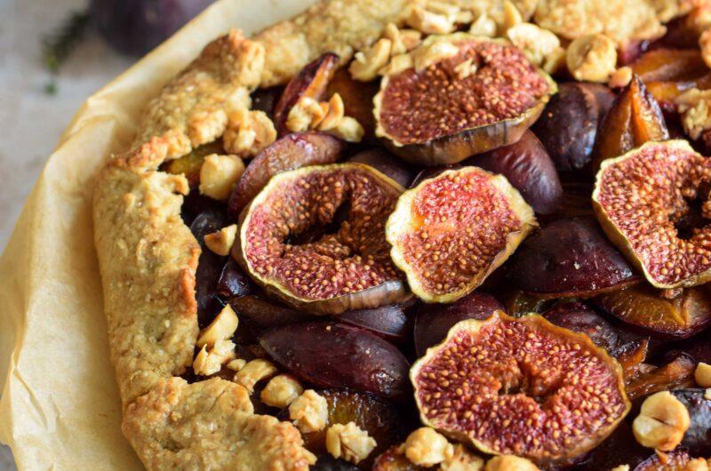 Tarta rustykalna: galette ze śliwkami i figami