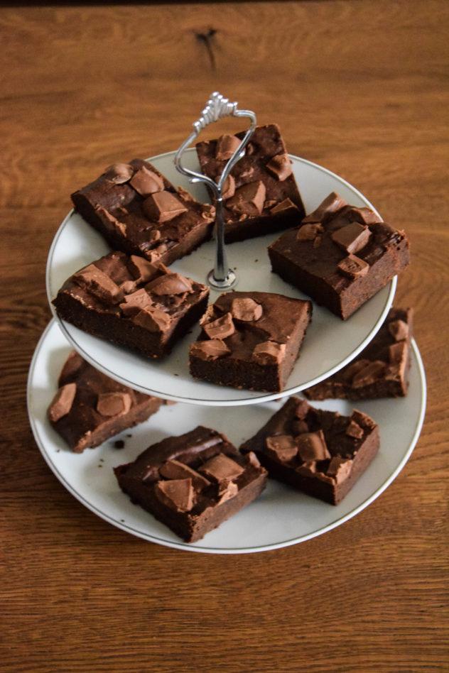 brownie bezglutenowe z batatów