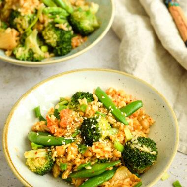 smażony ryż z kimchi